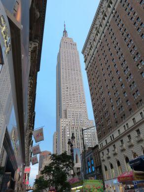 Empire State Building - da geht es gleich hinauf