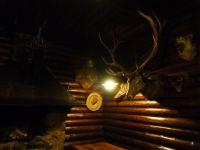 Im Kaminzimmer der Villa Bärenfett