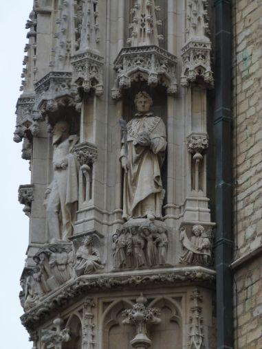 Napoleon an der Fassade des Rathauses